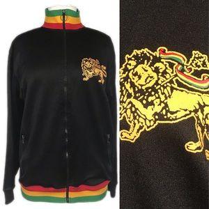 Vintage Rasta Colors Lion of Judah Track Jacket